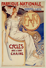 1897 FN Motorcycle Bruxelles Grand prix 13 x 19 Giclee Print