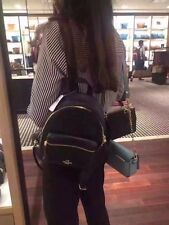 New Coach F38263 Mini Charlie Backpack In Pebble Leather Black NWT