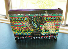 Sakroots One World Clear Cosmetic Case Clutch Purse With Elephant NWT