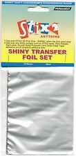 10 SHEETS TRANSFER FOILS SHINY METALLIC SILVER CARDMAKING HOBBY STIX2 S57112