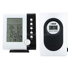 Wireless Weather Station Alarm Clock Digital Thermometer Hygrometer °C/°F 8HR5