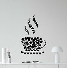 Coffee Wall Decal Beans Cup Food Kitchen Vinyl Sticker Home Decor Poster 129nnn