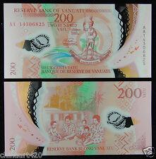 Vanuatu Polymer Plastic Banknote 200 Vatu 2014 UNC
