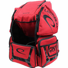 Latitude 64 Luxury E2 Backpack Red/Black Disc Golf Bag Holds 20+ Discs