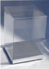 """24~ 5x5x7"""" Clear PVC Boxes w/ Silver Card Fragrance Perfume Toy Gift Packaging"""