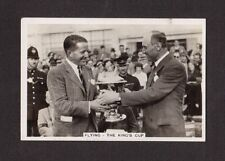 Flying - The King's Cup -  Vintage 1935 Cigarette Card