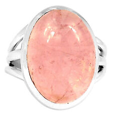 Rose Quartz 925 Sterling Silver Ring Jewelry s.6.5 3607R