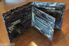 NEW~~~IN GIFT BOX~~LEATHER~~MOSSY OAK~~BREAK UP INFINITY~~BI-FOLD~~CAMO~~WALLET