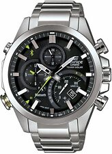 Edifice Smartphone Bluetooth Link Mens Steel 100m Chronograph watch. EQB500D-1A