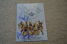 YAMIL BORGES & TERRENCE MANN signed autograph In Person 8x11  A CHORUS LINE