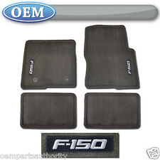 OEM NEW 2012-2013 Ford F-150 SUPER CAB Carpet Floor Mats ESPRESSO w/ Logo