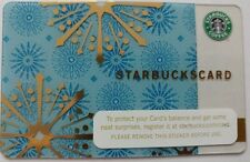 STARBUCKS Gift Card 2006 Shimmering Snowflakes Winter Christmas Series 6029  (B)