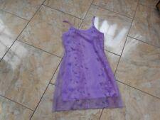 EB434 Splendide Sommer Stretch Träger Spitzen Kleid Kleid M Flieder weiss lila G