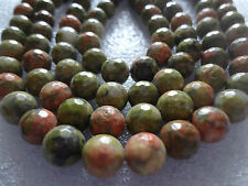 Faceted Unakite Jasper stone MALA 108+1 BEADS 8mm rosary
