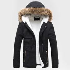 VENDITA COTONE GIACCA Uomo Faux Fur felpa con cappuccio Cappotti cappotto Parka