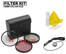 72mm Filter Set UV-CPL-FLD for Nikon AF-S DX NIKKOR 16-80mm f/2.8-4E ED VR Lens
