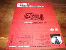 ZEBDA - PUBLICITE UTOPIE D'OCCASE !!!!!!!!!!
