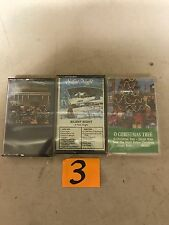 (3) NEW SEALED Assorted Christmas Music Cassette Tapes  (G)