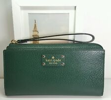 NEW KATE SPADE LAYTON WELLESLEY NIGHTFORES (336) WLRU1779 WRISTLET WALLET ZIPPER