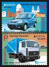 Stamp SET of BELARUS 2013 - The Postman Van. EUROPA