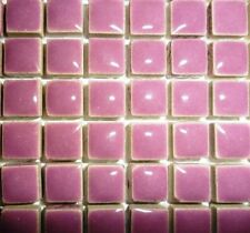 81 Mini Glazed Ceramic Mosaic Tiles 10mm - Pretty Purple