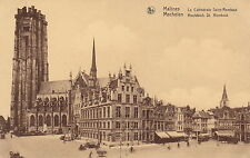 MECHELEN, MALINES, Belgium - The Cathedral with People & Vehicles  -(F745)