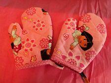 Children's DORA the EXPLORER Oven Mitts, Handmade, Quilted, Lined,100% Cotton