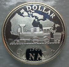 1981 CANADA CPR CENTENNIAL PROOF SILVER DOLLAR COIN