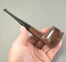 New Dark Brown Ebony Wood Smoking Tobacco Pipes 9mm Filter Nice Gift FZ519