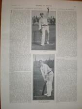 Photo article Cricket R E Foster W Rhodes 1901 UK