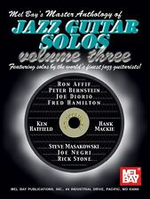MEL BAY Master Anthology of Jazz Guitar Solos Learn Play Music Book & CD Vol 3