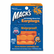 Macks  Earplugs - Pillowsoft Kids Childrens Ear Plugs 6 pairs Mouldable Silicone