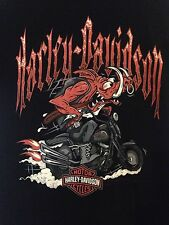 Women's Harley Davidson Wild Hog On Motorcycle T-Shirt from Mountain Creek Small