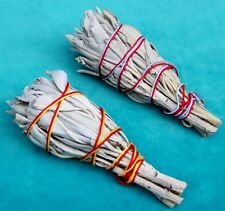 "2 X CA WHITE SAGE 4"" 10 cm SMUDGE CHEAP AT NDN TRADER!"