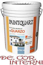 Vernice 14lt extra bianco pittura al quarzo per interni ed esterni de.cor.intern