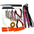 Pink - Flat Plate - Fusion Wand Iron Pre-bonded Hair Extension Basic Tools Kit