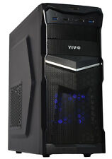 VIVO ATX Mid Tower Computer Gaming PC Case Black / 3 Fan Mounts, Dual USB 3.0