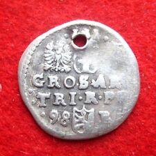 Sigismund III Vasa Medieval Silver Coin Gros 1598 POLAND