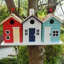Novelty Seaside Beach Hut Garden Bird House Nest Box Decorative Whimsical Gift