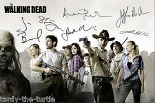 The Walking Dead Cast #2 Autograph Reprint 6 Autos Andrew Lincoln Norman Reedus