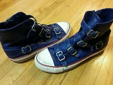 ASH-limited Edition- Blue Leather strappy High Top Sneakers sz.37