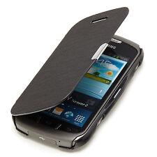 Samsung Galaxy Xcover 2 S7710 Slim Flip Case Tasche Hülle Cover Etui schwarz A9