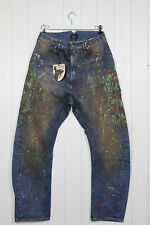 MENS VIVIENNE WESTWOOD ANGLOMANIA X LEE OVERALL JEANS PAINT W32 L34