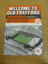 07/09/1974 Manchester United v Nottingham Forest [Division 2 Season] (rusty stap
