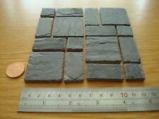 REAL SLATE MINIATURE FLAGSTONES 80 YEARS OLD,DOLLS HOUSE*OFFER BUY 2 GET 1 FREE