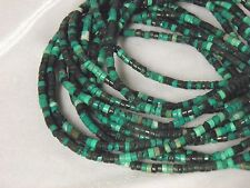 "4x2mm Multi-Blue Turquoise Heishi Beads 15.5"" Strands S2"