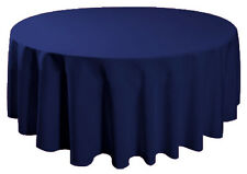 """90"""" Round Table Cover Seamless Wedding Banquet Tablecloth - NAVY BLUE"""