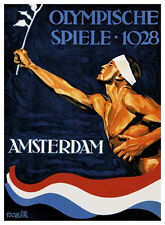 AMSTERDAM 1928 Summer Olympic Games Official Olympic Museum POSTER Print
