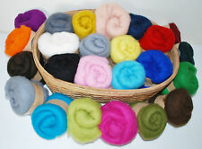 Short Fibre Carded Merino 21 microns Needle felting wool, choose 10 colours 200g