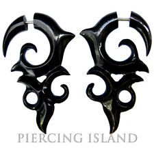 Fake Piercing Schmuck Ohrringe Horn Bone Plug F088